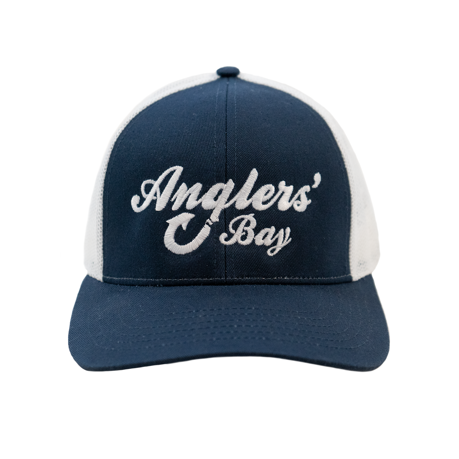 Anglers' Bay Trucker Hat in Navy White